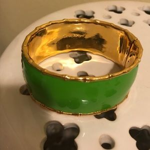 LILLY PULITZER green&gold enamel BANGLE!