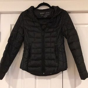 EUC BCBG black down jacket. Size small