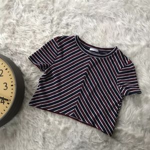 Striped Zara Crop Top Hipster