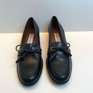Etienne Aigner Vintage Navy Blue Loafers Size 8N