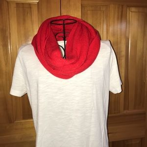 Accessories - Red Infinity Scarf New without tags