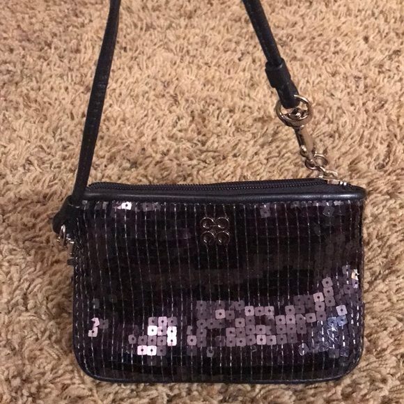 Coach Bags - Coach Wristlet Navy Sequined