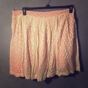 ASOS coral eyelit skirt