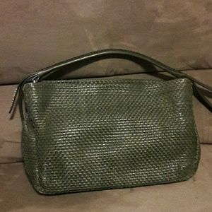 Never carried: Cole Haan weave  leather bag