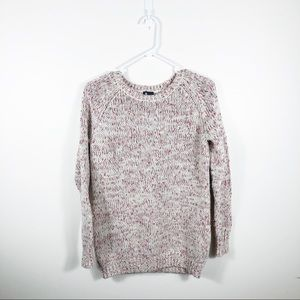Sparkle & Fade Pink & white Speckled Sweater