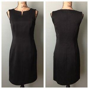 BCBGMaxAzria size 6 fitted black sheath dress!