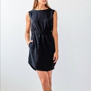 Brass Black Banded Dress