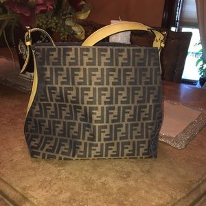 Authentic Fendi Zucca Hobo