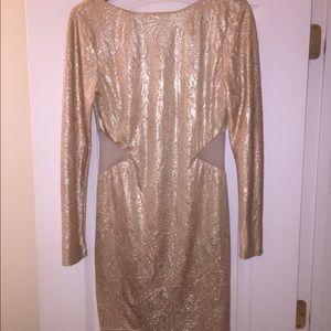 Arden B. Gold Mini Dress