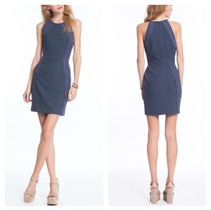 Plenty by Tracy Reese indigo halter shift dress