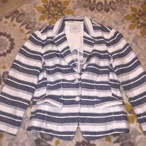 Ann Taylor LOFT Petite Striped Blazer