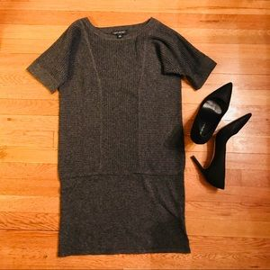 Banana Republic Ribbed Paneled Sweater Dress