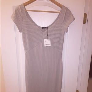 Zara Light Gray Midi Dress
