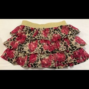 Floral rose skirt with shorts -4 years