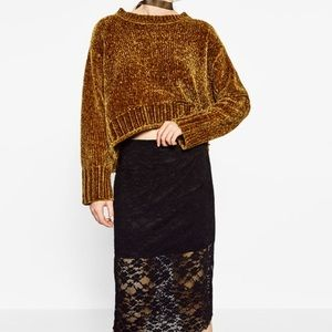 Zara lace midi skirt