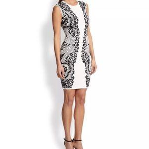BCBG MaxazriaWhite Konnie Knit Jacquard Dress
