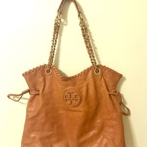 Tory Burch Caramel Marion Tote