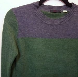EUC Lux striped wool tunic sweater with pockets