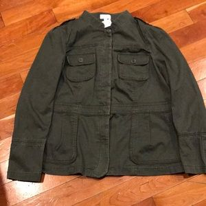 Brand new LOFT military green jacket