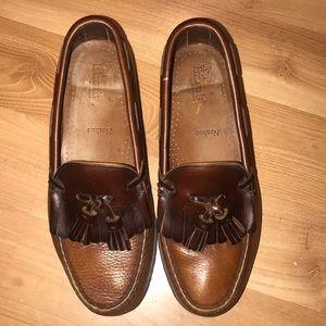 Allen Edmonds top sider brown leather size 7EE
