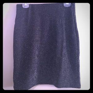 H&M sparkly mini skirt