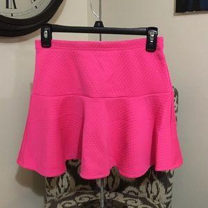 Bright pink skirt - girls preppy popular pink