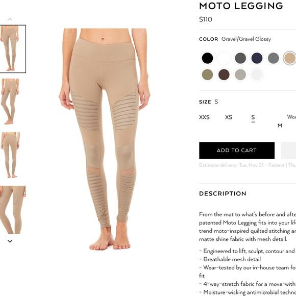 603106b7a90ac1 ALO Yoga Pants | Gravel Moto Legging | Poshmark
