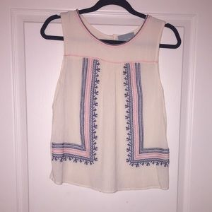 Adorable embroidered tank