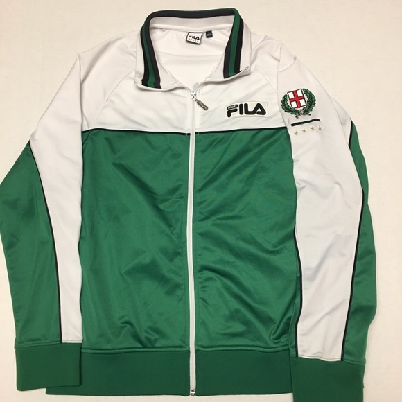 Vintage Fila sport Italia Italy green track jacket