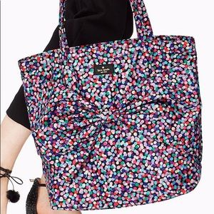 Kate Spade On Purpose Purple Polka Dot Tote Bag