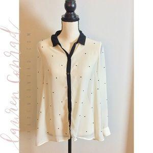 Beautiful Lauren Conrad Longsleeve Mesh Shirt