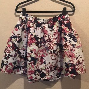 Express Floral Full Skirt