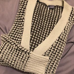 Sparkle & Fade grey and black knit cardigan