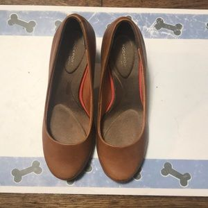 Rockport Caramel Brown Comfy Heels