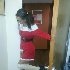 Warm n cozy Santa dress or pjs