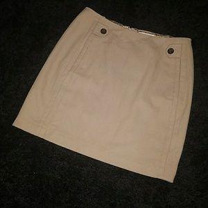 NWT Banana Republic tan wool blend mini skirt