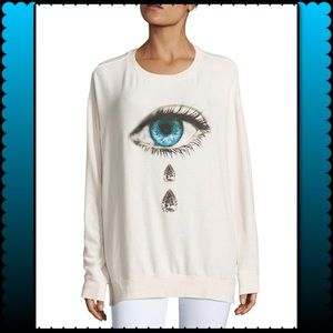 Wildfox teardrop graphic sweatshirt