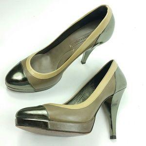 Bcbgmaxazria cap toe patent leather pump Size 7