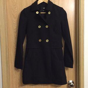 H&M black light weight pea coat, size 2