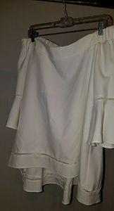 Off-white, off the shoulder top - Med