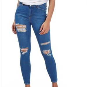 TopShop Moto Leigh Super Ripped Ankle Skinny Jeans