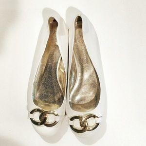 Jeffrey Campbell Horse Clip Ballet Flats Leather