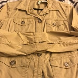 Safari style, button up lightweight jacket, Sz PM