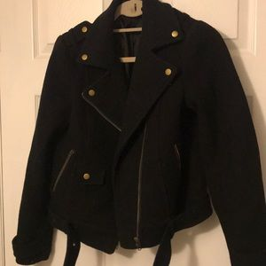 Asymmetrical zip Moto jacket