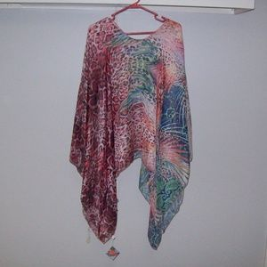 Other - Size XL Sheer Multi-print Coverup. OSFA