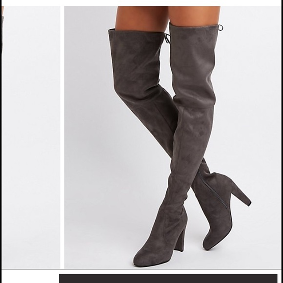 3c1e8c2f9a3 Charlotte Russe Tie-Back Over the Knee Boots