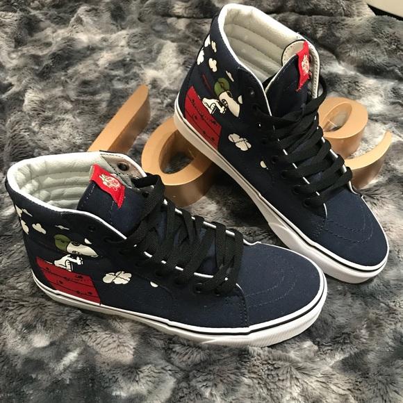 4c9d5e2286 Vans Sk8 Hi Peanuts Flying Ace Skate Shoe