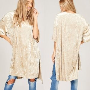 COMING SOON!!!! Loose Fit Velvet Tunic