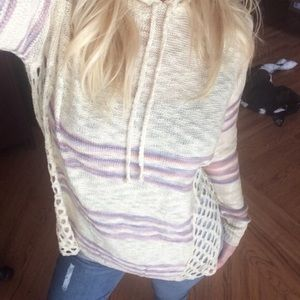 Bohemian style crochet side sweater tunic