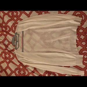 Uniqlo White Cardigan
